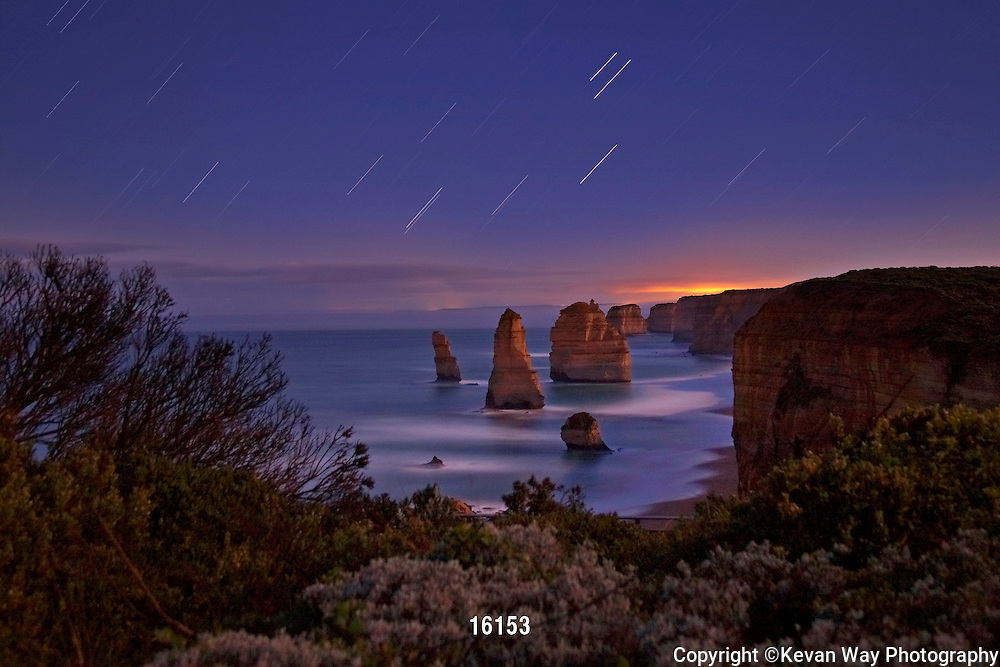star trails at The Apostles