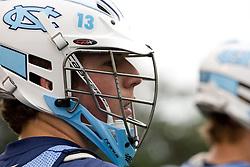 14 April 2008: North Carolina Tar Heels men's lacrosse midfielder Matt Davie (28) during a practice day in Chapel Hill, NC.