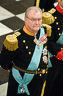 03.01.12. Copenhagen, Denmark..Prince Henrik receiving the chiefs of the diplomatic corps in the Rider's Hall during the New Year's Court in Christiansborg Palace.Photo:© Ricardo Ramirez