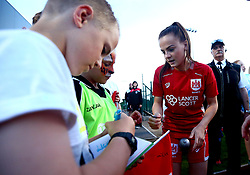 Bristol City Women players sign autographs - Mandatory by-line: Robbie Stephenson/JMP - 31/05/2017 - FOOTBALL - Stoke Gifford Stadium - Bristol, England - Bristol City Women v Chelsea Ladies - FA Women's Super League Spring Series