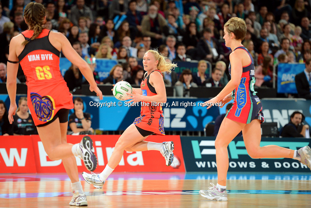 Laura Langman (Magic)<br /> 2012 ANZ Netball Championships / finals<br /> Melbourne Vixens vs WBOP Magic<br /> Sunday July 22nd 2012 <br /> Hisense Arena/ Melbourne Australia <br /> &copy; Sport the library / Jeff Crow
