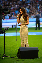 KETTERINGS FARYL SMITH SINGS THE NATIONAL ANTHEM BEFORE KICK OFF, Arsenal v Manchester City Carabao League Cup Final, Wembley Stadium, Sunday 25th February 2018, Score Arsenal 0- Man City 3.