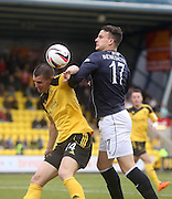 Dundee's Kyle Benedictus and Livingston's Michael Habai Livingston v Dundee - SPFL Championship at Almondvale <br />  - &copy; David Young - www.davidyoungphoto.co.uk - email: davidyoungphoto@gmail.com