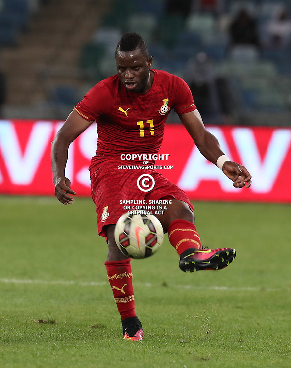 Mubarak Wakaso of Ghana during the international friendly match between South Africa ( Bafana Bafana ) and Ghana at the Moses Mabhida stadium in Durban, South Africa on the 11th October 2016<br /> <br /> Photo by:   Steve Haag / Real Time Images