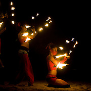 Firedancers in Playa del Carmen, Mexico. July 2009.  (Photo/William Byrne Drumm)