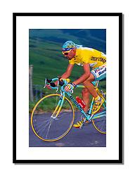 Marco Pantani 1998<br /> <br /> Pantani seen defending the yellow jersey he had won at Les Arcs the previous day.