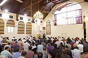 Ali Jafari's funeral prayers  <br /> Mr Ali Jafari, aged 82,  died following the fire at Grenfell Tower,<br /> 14th July 2017 <br /> <br /> Prayers at the Hussaini Islamic Mission, Thornbury Road, Isleworth, <br /> <br /> The cortege departing  from the Hussaina Islamic Mission <br /> <br /> <br /> Photograph by Elliott Franks <br /> Image licensed to Elliott Franks Photography Services