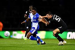 Victor Adeboyejo of Bristol Rovers is marked by Jack Wakely of Chelsea - Mandatory by-line: Ryan Hiscott/JMP - 24/09/2019 - FOOTBALL - Memorial Stadium - Bristol, England - Bristol Rovers v Chelsea - Leasing.com Trophy