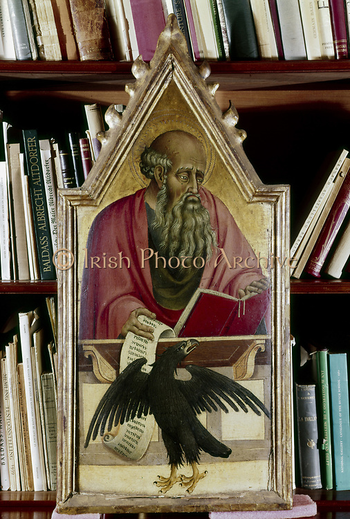 St John the Evangelist shown with his symbol, the eagle. Artist, Giovanni de Paolo (14th century). Italian.