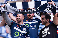 SYDNEY, NSW - JANUARY 12: Victory fans cheer on at the Hyundai A-League Round 13 soccer match between Melbourne Victory and Newcastle Jets at AAMI Park in VIC, Australia 12 January 2019. (Photo by Speed Media/Icon Sportswire)