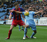 Photo: Lee Earle.<br /> Coventry City v Crystal Palace. Coca Cola Championship. 13/01/2007. Coventry's Leon McKenzie (R) battles with Mark Hudson.