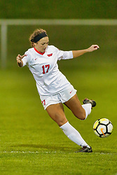 NORMAL, IL - October 17:  Emily Adelman during an NCAA Missouri Valley Conference (MVC)  women's soccer match between the Indiana State Sycamores and the Illinois State Redbirds October 17 2018 on Adelaide Street Field in Normal IL (Photo by Alan Look)