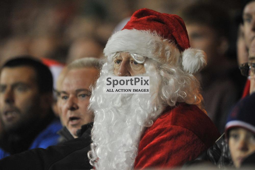 Santa at Forest Leeds game, Nottingham Forest v Leeds United, Sky Bet Championship, City Ground, Sunday 27th December 2015