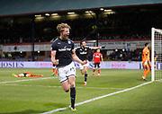 24th November 2017, Dens Park, Dundee, Scotland; Scottish Premier League football, Dundee versus Rangers; Dundee's Mark O'Hara celebrates after scoring for 1-0