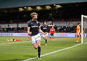 24th November 2017, Dens Park, Dundee, Scotland; Scottish Premier League football, Dundee versus Rangers; Dundee's Mark O'Hara celebrates after scoring for 1-0