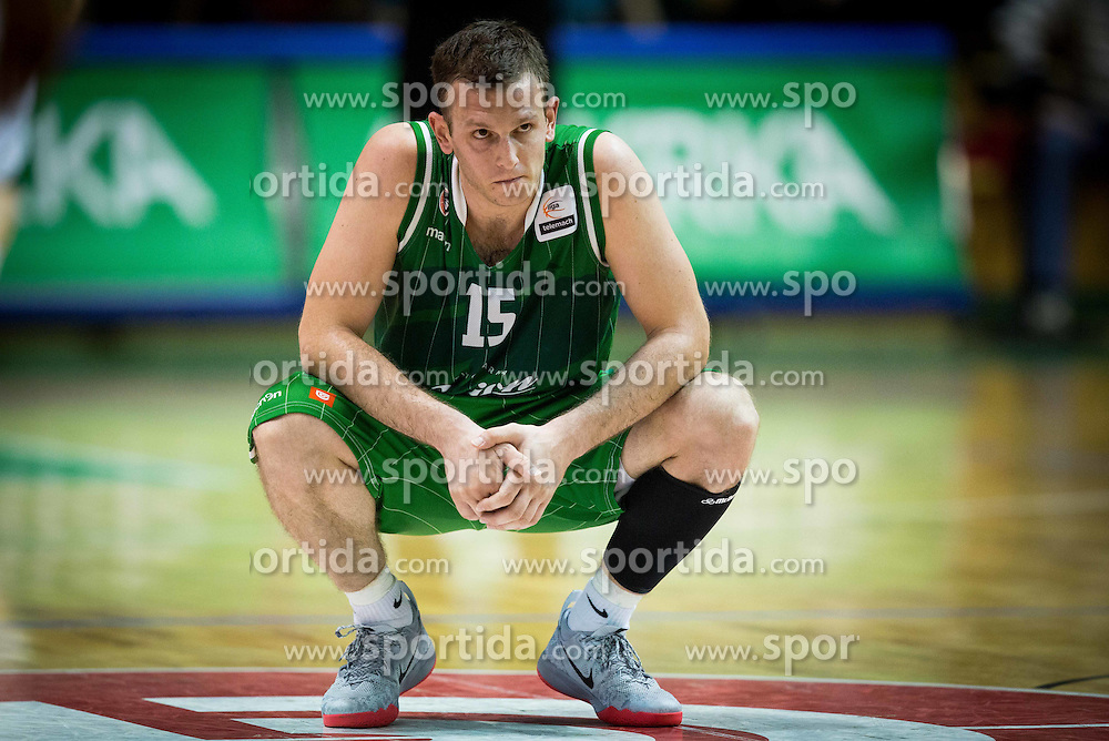 Jakov Vladovic of Union Olimpija during basketball match between KK Krka and KK Union Olimpija in 10th Round of Slovenian National Championship 2013/14, on April 28, 2014 in Dvorana Leona Stuklja, Novo mesto, Slovenia. Photo by Vid Ponikvar / Sportida