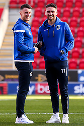 Ollie Clarke and Luke Leahy of Bristol Rovers - Mandatory by-line: Robbie Stephenson/JMP - 18/01/2020 - FOOTBALL - Aesseal New York Stadium - Rotherham, England - Rotherham United v Bristol Rovers - Sky Bet League One