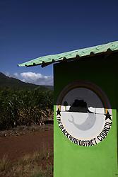 MAURITIUS FLIC EN FLAC 4MAY13 - Bus stop en route to Flic en Flac, Mauritius.<br /> <br /> <br /> <br /> <br /> jre/Photo by Jiri Rezac / Greenpeace