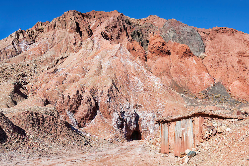 Salt mine in the High Atlas Mountains, Onila Valley, Morocco.