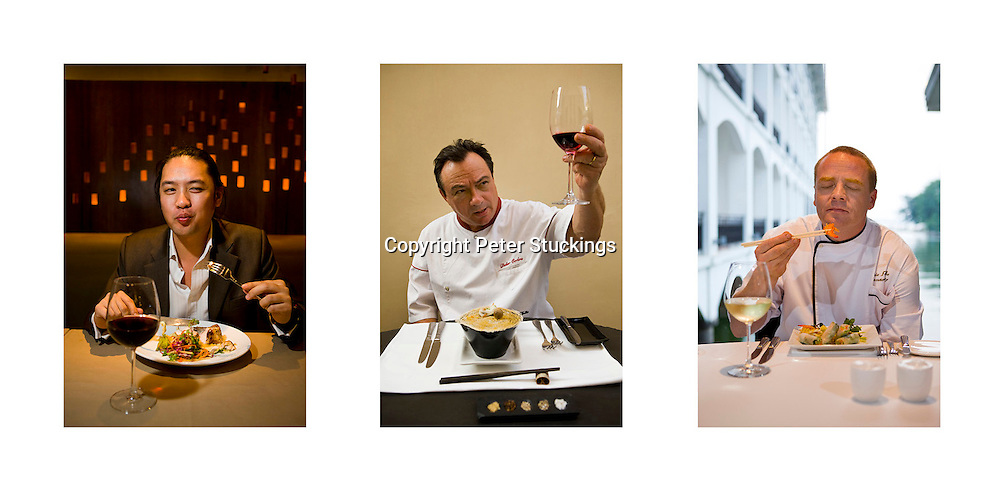 Vietnam-based chefs Bien Nguyen, Didier Corlou and Eric Fettke