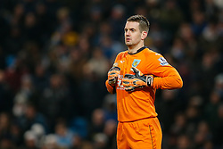 Thomas Heaton of Burnley looks on - Photo mandatory by-line: Rogan Thomson/JMP - 07966 386802 - 28/12/2014 - SPORT - FOOTBALL - Manchester, England - Etihad Stadium - Manchester City v Burnley - Barclays Premier League.