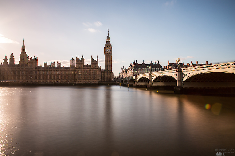 Westminster Bridge and the Houses of Parliament in London