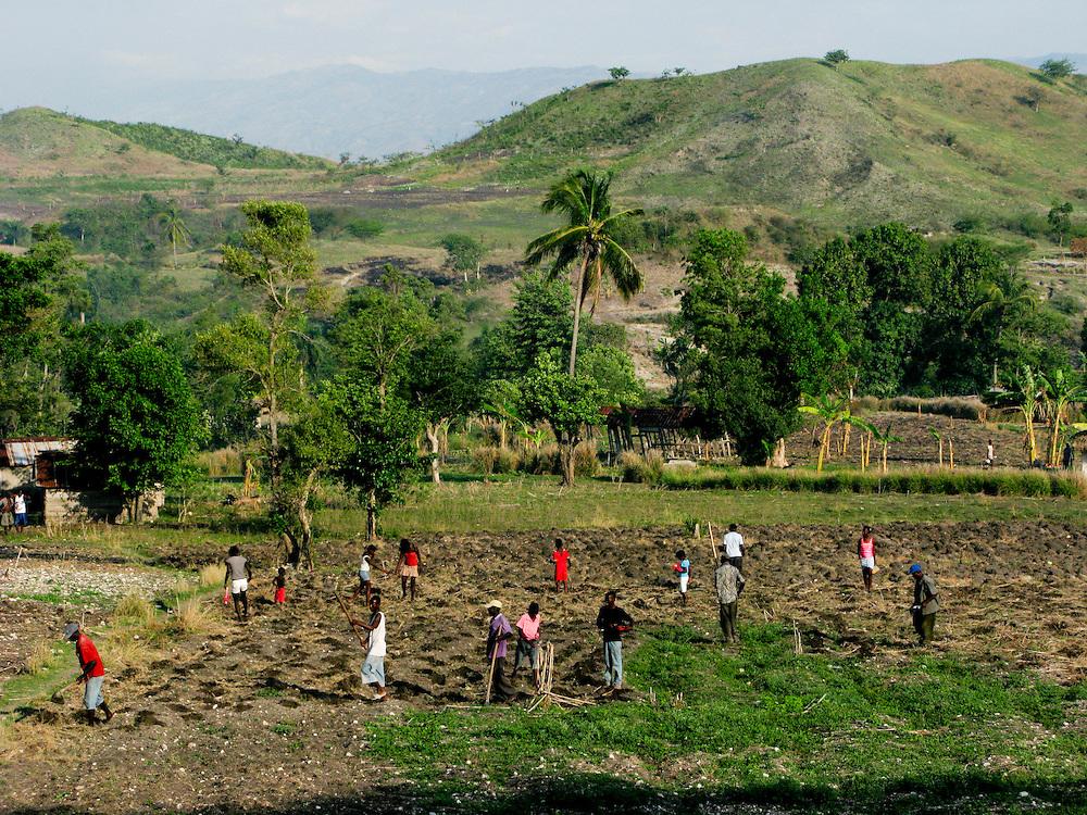 Fonkoze CLM clients during the Enterprise Selction interview.  Boukankare, Haiti. Photo by Ben Depp