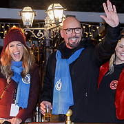 NLD/Amstelveen/20181222 - SBS Kerstparade 2018, Kim Kotter en Maik de Boer