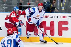 Ilya Nikulin of Russia vs Tomas Rolinek of Czech Republic during ice-hockey match between Czech Republic and Russia of Group E in Qualifying Round of IIHF 2011 World Championship Slovakia, on May 8, 2011 in Orange Arena, Bratislava, Slovakia. (Photo by Matic Klansek Velej / Sportida)