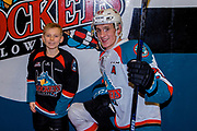 KELOWNA, CANADA - JANUARY 04: Pepsi Player of the Game with Nolan Foote #29 of the Kelowna Rockets at the Kelowna Rockets game on January 04, 2019 at Prospera Place in Kelowna, British Columbia, Canada. (Photo By Cindy Rogers/Nyasa Photography, *** Local Caption ***
