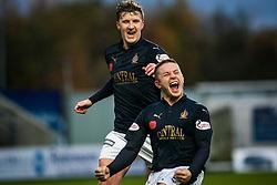 Falkirk's John Baird cele scoring their third goal. <br /> Falkirk 5 v 0 Alloa Athletic, Scottish Championship game played at The Falkirk Stadium. &copy; Ross Schofield