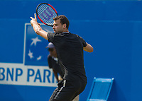 Tennis - 2017 Aegon Championships [Queen's Club Championship] - Day Three, Wednesday<br /> <br /> Men's Singles, Round of 16 - Grigor Dimitrov (BUL) vs Julien Benneteau (FRA)<br /> <br /> Grigor Dimitrov (BUL) prepares to return a shot at Queens Club<br /> <br /> COLORSPORT/DANIEL BEARHAM