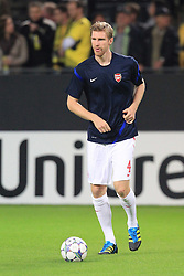 13.09.2011, Signal Iduna Park, Dortmund, GER, UEFA CL, Gruppe F, Borussia Dortmund (GER) vs Arsenal London (ENG), im Bild.Per Mertesacker (Arsenal #4)..// during the UEFA CL, group F, Borussia Dortmund (GER) vs Arsenal London on 2011/09/13, at Signal Iduna Park, Dortmund, Germany. EXPA Pictures © 2011, PhotoCredit: EXPA/ nph/  Mueller       ****** out of GER / CRO  / BEL ******