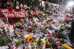 March 17, 2019 - Christchurch, Canterbury, New Zealand - Flowers seen to respect to the victims of the Christchurch mosques shooting. Around 50 people has been reportedly killed a terrorist attack onn two Christchurch mosques. (Credit Image: © Adam Bradley/SOPA Images via ZUMA Wire)