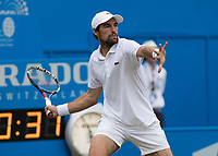 Tennis - 2017 Aegon Championships [Queen's Club Championship] - Day Four, Thursday <br /> <br /> Men's Singles: Round of 16 - Jeremy CHARDY (FRA)<br /> vs Feliciano LOPEZ (ESP)<br /> <br /> Jeremy Chardy (FRA) prepares to strike a fore hand return at Queens Club<br /> <br /> COLORSPORT/DANIEL BEARHAM