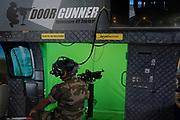 France, Paris, 15 Juin 2018. Eurosatory 2018, Salon international de Défense et Sécurité. Stand Ministère des Armées. Démonstration de l'entraînement en réalité virtuelle.