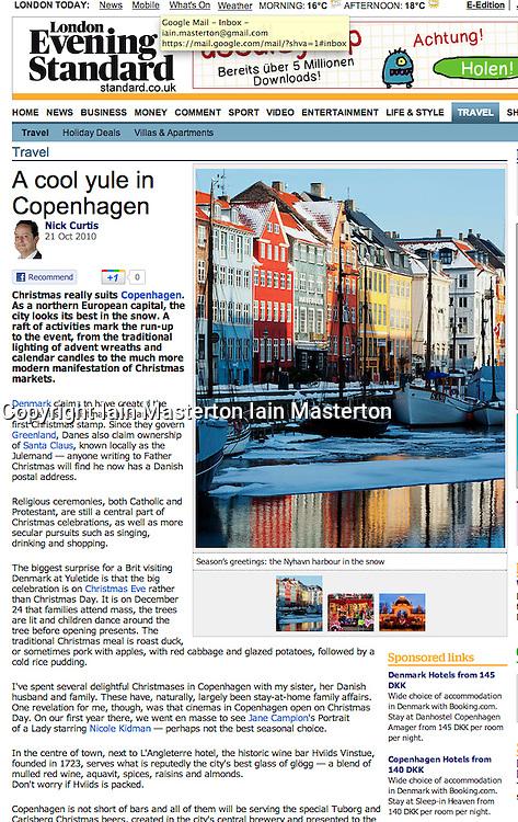 Tearsheet from London Evening Standard, Copenhagen