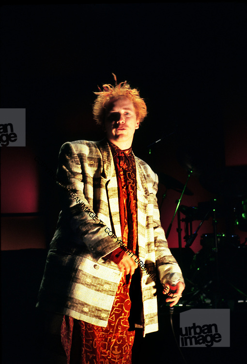 Portrait of John Lydon of Public Image Ltd., the English musical group formed in 1978 after the fall of the Sex Pistols 1987