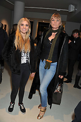 Left to right, TIGERLILY TAYLOR and DEBORAH LENG at a private view of Bill Wyman - Reworked held at the Rook & Raven Gallery, 7 Rathbone Place, London W1 on 26th February 2013.