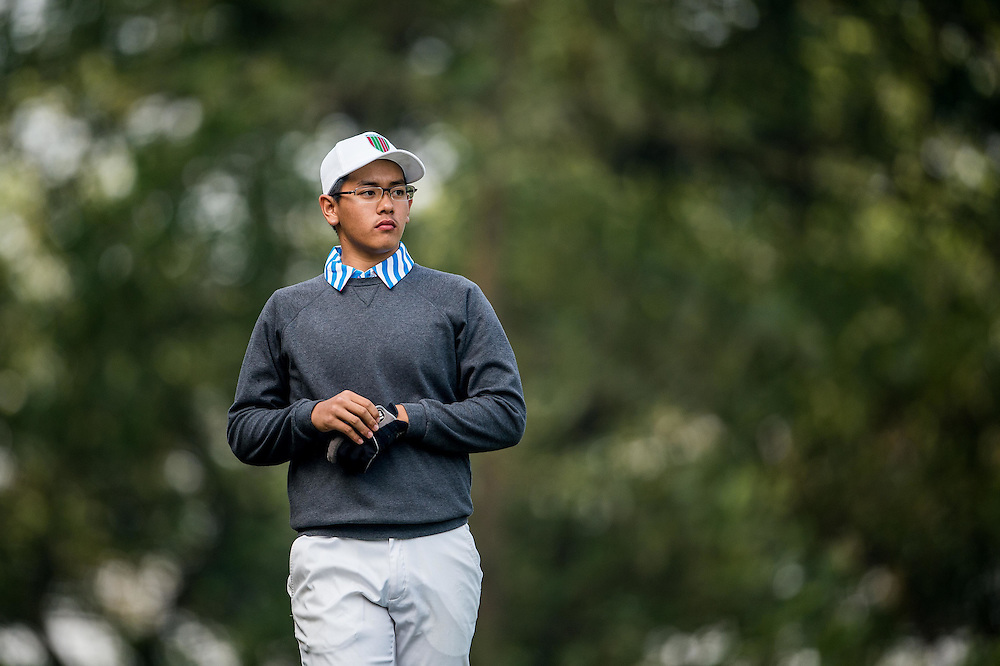 Stevanus Daniel Wirawan Indonesia in action during day two of the 10th Faldo Series Asia Grand Final at Faldo course on 03 March of 2016 in Shenzhen, China. Photo by Xaume Olleros.
