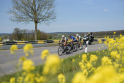 Druyts, Arzuffi and de Vuyst build a small gap with two laps to go on Stage 2 of Festival Elsy Jacobs 2017. A 111.1 km road race on April 30th 2017, starting and finishing in Garnich, Luxembourg. (Photo by Sean Robinson/Velofocus)