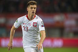 March 21, 2019 - Vienna, Austria - Krzysztof Piatek of Poland during the UEFA European Qualifiers 2020 match between Austria and Poland at Ernst Happel Stadium in Vienna, Austria on March 21, 2019  (Credit Image: © Andrew Surma/NurPhoto via ZUMA Press)