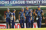 Otago Volts take to the field during the Qualifier 1 match of the Karbonn Smart Champions League T20 (CLT20) between Otago Volts and the Faisalabad Wolves held held at the Punjab Cricket Association Stadium, Mohali on the 17th September 2013<br /> <br /> Photo by Ron Gaunt/CLT20/SPORTZPICS<br /> <br /> <br /> Use of this image is subject to the terms and conditions as outlined by the CLT20. These terms can be found by following this link:<br /> <br /> http://sportzpics.photoshelter.com/image/I0000NmDchxxGVv4<br /> <br /> ENTER YOUR EMAIL ADDRESS TO DOWNLOAD