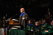 Ohio University Professor Thomas Vander Ven delivers the Commencment Address during Graduate Commencement on Friday, May 1, 2015. Vander Ven was the 2014 Outstanding Graduate Faculty Award Winner.  Photo by Ohio University  /  Rob Hardin