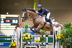 Dierickx Lente, BEL, Ikkepuk v't Plutoniahof<br /> Nationaal Indoor Kampioenschap Pony's LRV <br /> Oud Heverlee 2019<br /> © Hippo Foto - Dirk Caremans<br /> 09/03/2019