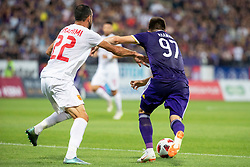 Labinot Ibrahimi of FK Partizani Tirana and Martin Krmaric of NK Maribor during 2nd Leg football match between NK Maribor and FK Partizani Tirana in 1st Qualifying Round of UEFA Europa League 2018/18, on July 19, 2018 in Ljudski vrt, Maribor, Slovenia. Photo by Urban Urbanc / Sportida