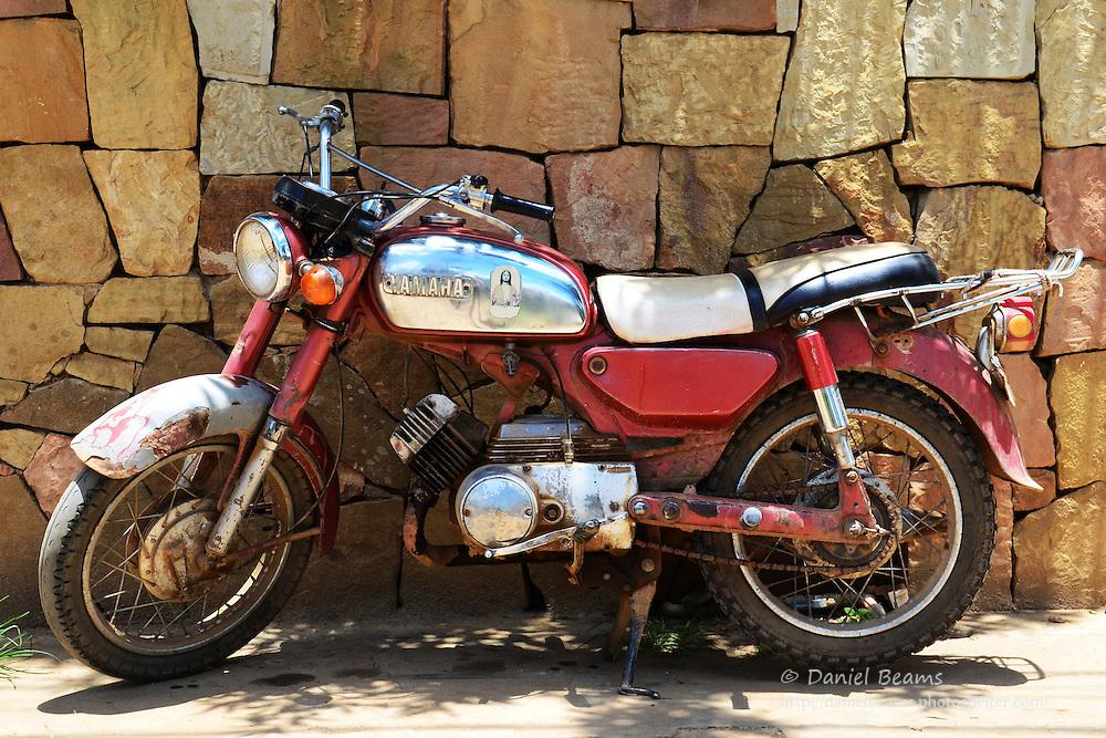 old yamaha motorcycle in samaipata santa cruz bolivia