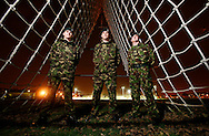 SOLDIERS HOME FOR CHRISTMAS.(left to right).Rifleman SHANE PENDALL,Lance Corporal GARETH COUPLAND,Corporal CARL CHADWICK..06/12/07.PICTURE BY GARY DOAK.