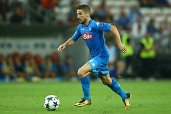 August 22, 2017 - Nice, France - Dries Mertens of Napoli  during the UEFA Champions League Qualifying Play-Offs round, second leg match, between OGC Nice and SSC Napoli at Allianz Riviera Stadium on August 22, 2017 in Nice, France. (Credit Image: © Matteo Ciambelli/NurPhoto via ZUMA Press)