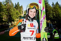 Nika Kriznar during Ski jumping Summer cup - 45. Revija skokov Mostec on June 4, 2016 in Mostec hill, Ljubljana, Slovenia.Photo by Vid Ponikvar / Sportida